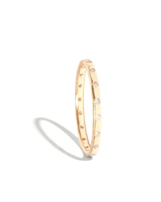 Melissa Joy Manning | Metallic 18 White Diamond Wedding Band | Lyst