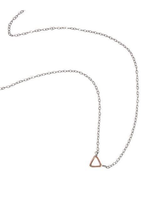 Melissa Joy Manning | Metallic Triangle Small Pendant Necklace | Lyst