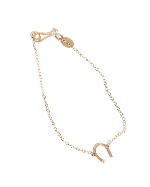 Melissa Joy Manning | Metallic Gold Horseshoe Chain Bracelet With White Diamond | Lyst