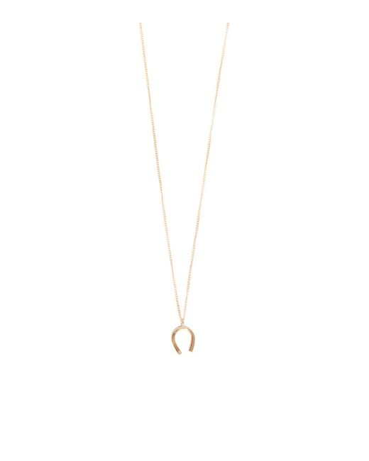 Melissa Joy Manning | Metallic Horseshoe With White Diamond Necklace | Lyst