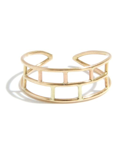 Melissa Joy Manning | Metallic Adjustable Layered Brick Ring | Lyst
