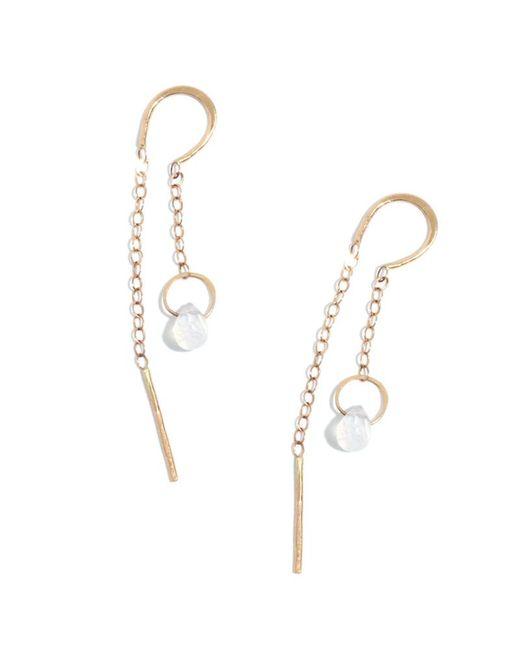 Melissa Joy Manning | Metallic Moonstone Horseshoe Chain Earrings | Lyst