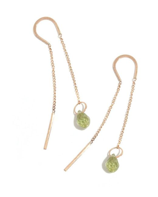 Melissa Joy Manning | Metallic Peridot Drop Horseshoe Chain Earrings | Lyst