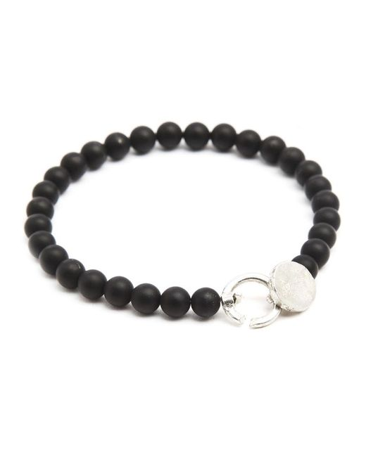Gilbert Gilbert | Black Onyx Mat Jos 15 Bracelet for Men | Lyst