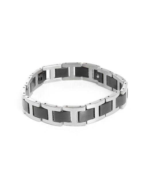 Tateossian | Gray Grey And Black Titanium Bracelet Size M for Men | Lyst