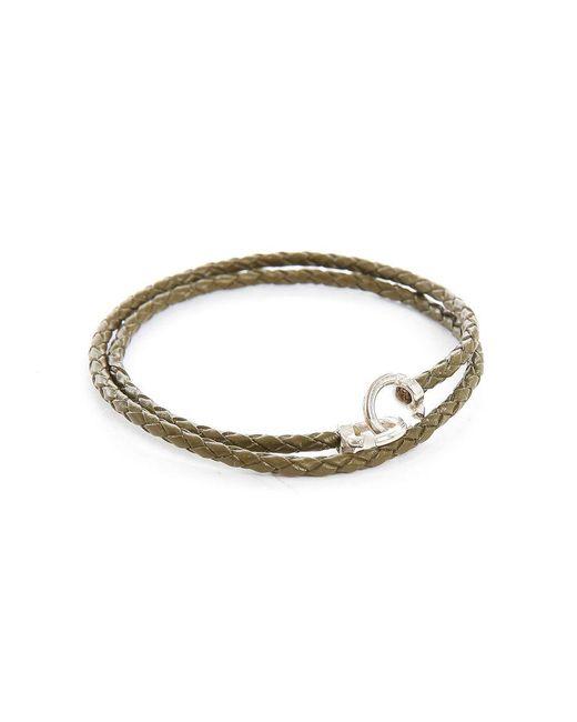 Gilbert Gilbert   Natural Jo12 Khaki Woven Leather Bracelet for Men   Lyst