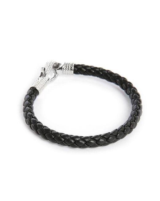 Tateossian   Black Braided Bracelet for Men   Lyst