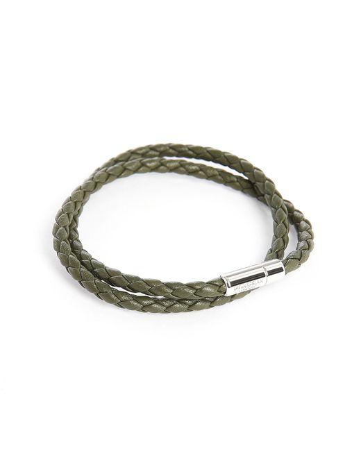 Tateossian   Green Scoubidou Double Leather 39 Cm Bracelet for Men   Lyst