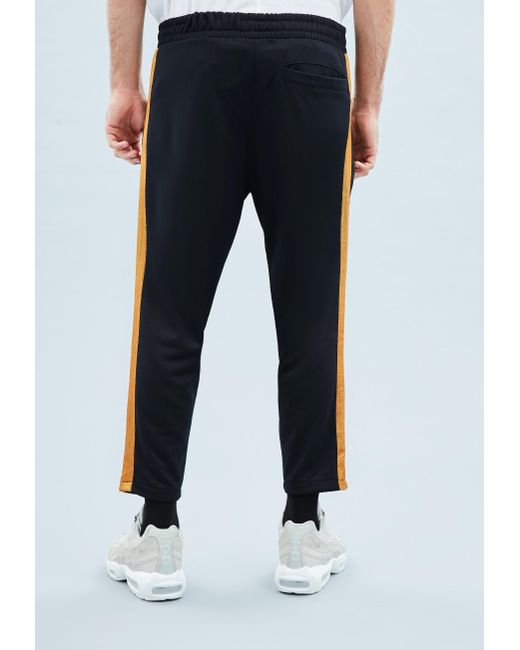 ef70903a1e91 ... Mennace - Blue Navy Tricot Knit Gold Stripe Tracksuit Bottoms for Men -  Lyst ...