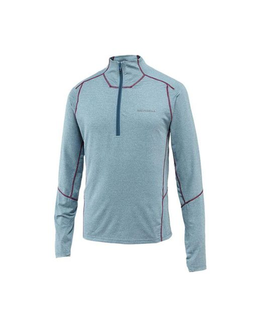 Merrell | Blue Torrent Half Zip Wick Top for Men | Lyst