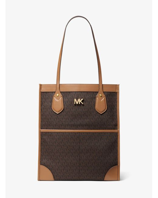 Bolso Tote Bay Grande Con Logotipo MICHAEL Michael Kors de color Brown
