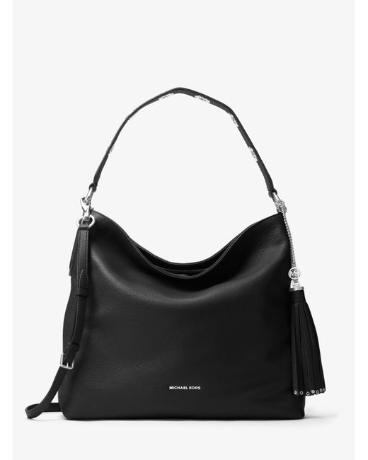 14ccb7077c3fa Michael Kors - Black Brooklyn Large Leather Shoulder Bag - Lyst ...