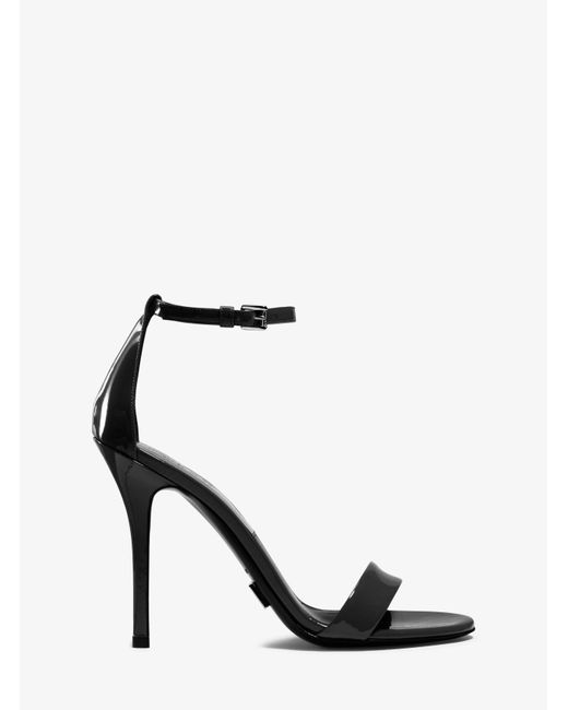 Michael Kors | Black Jacqueline Runway Patent-leather Sandal | Lyst