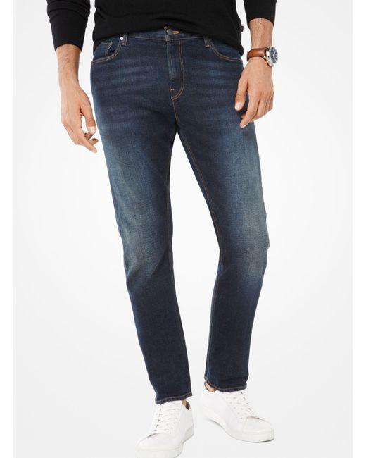 Michael Kors - Blue Parker Slim-fit Selvedge Jeans for Men - Lyst