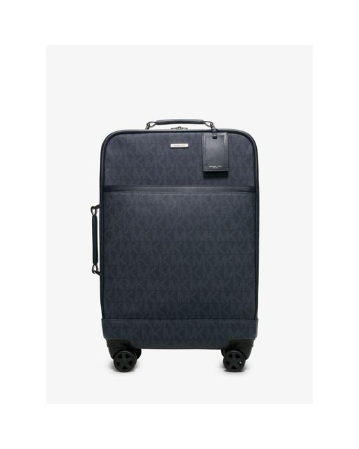 Michael Kors | Blue Jet Set Travel Logo Suitcase for Men | Lyst