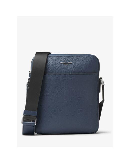 Michael Kors | Blue Harrison Medium Leather Flight Bag for Men | Lyst