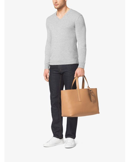 Michael Kors | Natural Mason Reversible Leather Tote for Men | Lyst