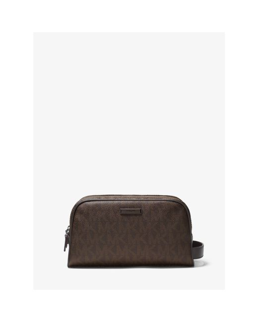 Michael Kors | Brown Jet Set Logo Double-zip Travel Case for Men | Lyst