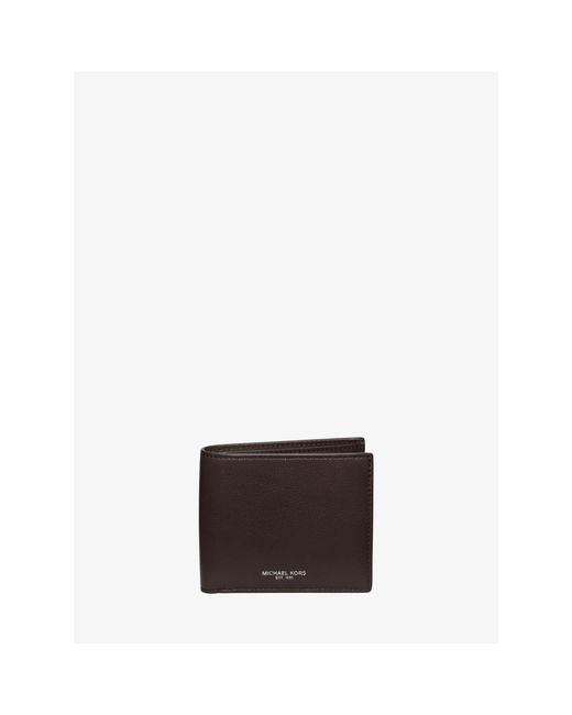 Michael Kors | Brown Bryant Leather Billfold Wallet for Men | Lyst