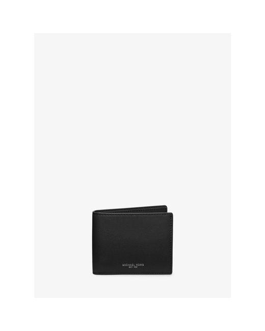 Michael Kors | Black Bryant Slim Leather Billfold Wallet for Men | Lyst