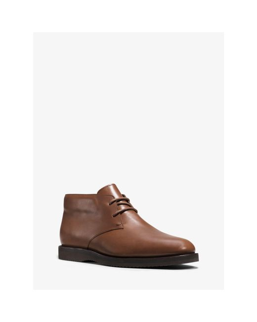 Michael Kors | Brown Logan Leather Boot for Men | Lyst