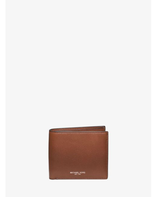 Michael Kors - Brown Bryant Leather Billfold Wallet for Men - Lyst