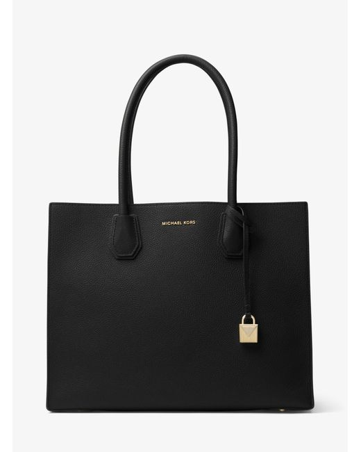 Michael Kors - Black Mercer Extra-large Leather Tote - Lyst