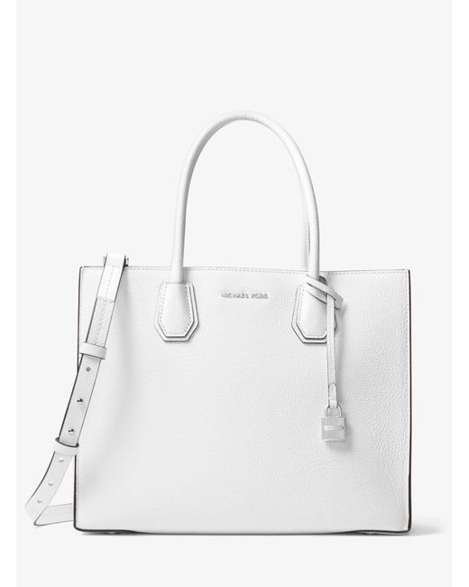 Michael Kors - White Mercer Large Leather Tote - Lyst