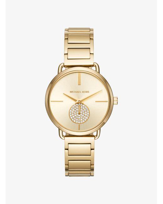 c10c30503493 Michael Kors - Metallic Portia Gold-tone Watch - Lyst ...