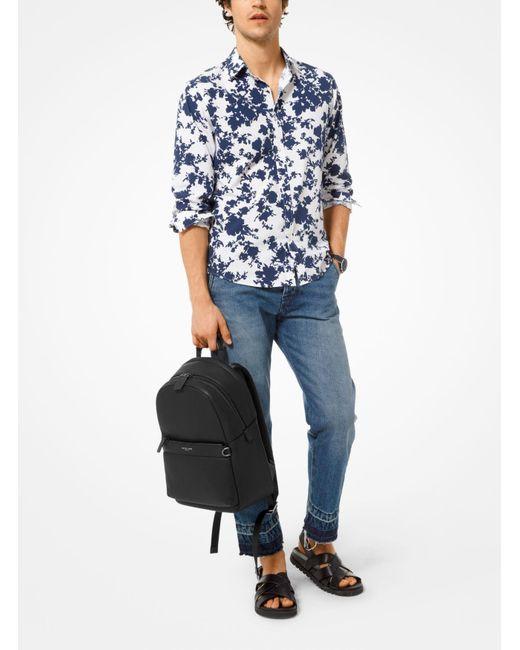 40c4898381b6 ... Michael Kors - Black Greyson Pebbled Leather Backpack for Men - Lyst ...