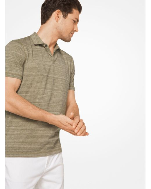 Michael Kors | Multicolor Space-dyed Cotton Polo Shirt for Men | Lyst