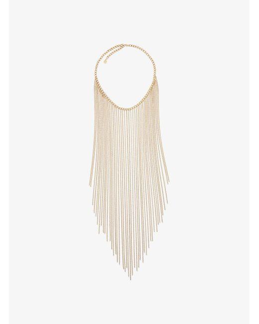 Michael Kors | Metallic Gold-tone Fringed Necklace | Lyst