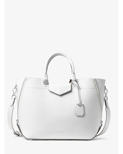 Michael Kors - White Blakely Leather Tote - Lyst