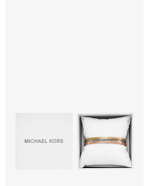 Michael Kors - Multicolor Tri-stack Bangle Set - Lyst