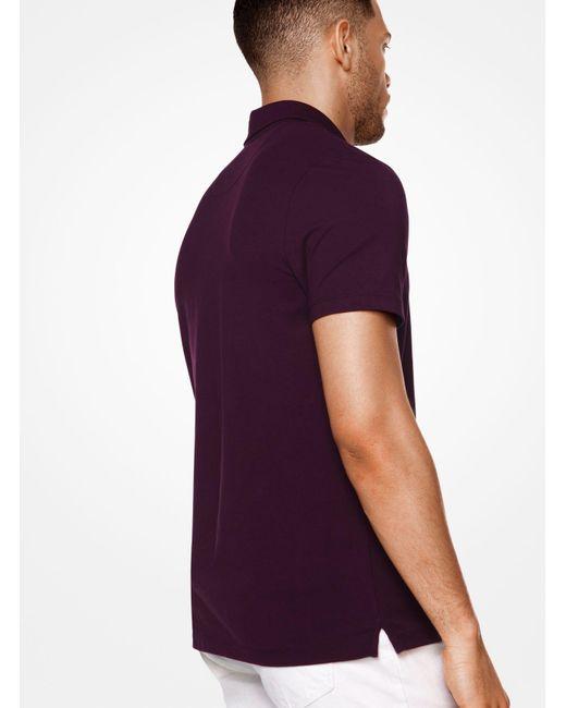 Michael Kors | Purple Cotton Polo Shirt for Men | Lyst