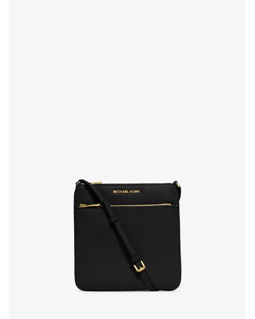 Michael Kors | Black Riley Small Pebbled-leather Crossbody | Lyst