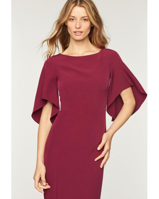 MILLY - Red Italian Cady Mila Dress - Lyst