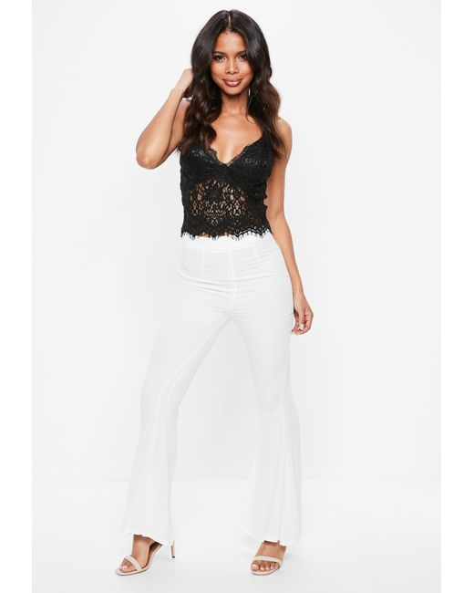 2d71203cd0 ... Missguided - Tall Black Eyelash Lace Bralet - Lyst ...