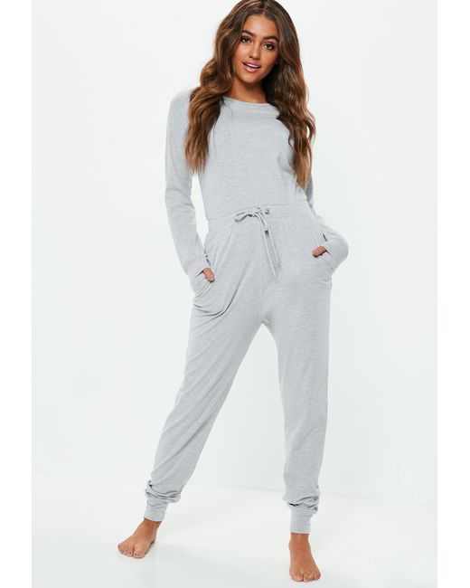 af7d7882c71 Missguided - Gray Grey Casual Loungewear Jumpsuit - Lyst ...