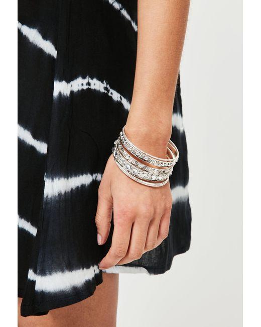 Missguided | Metallic Silver Bracelet Set | Lyst