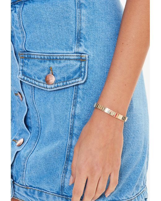 Missguided - Metallic Gold Link Bracelet - Lyst