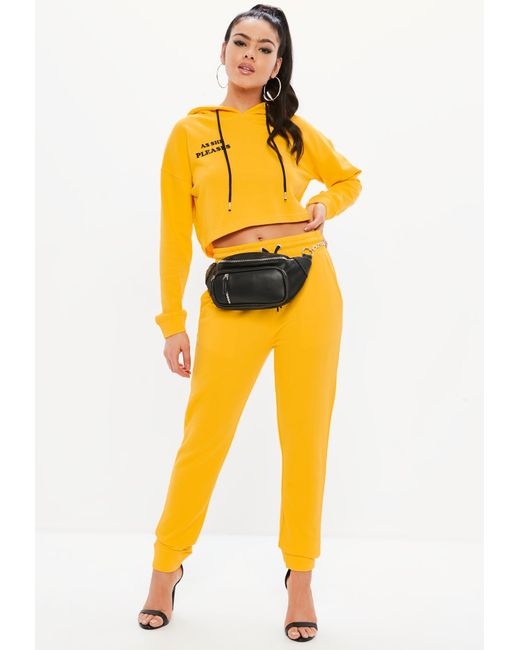 Missguided - Madison Beer X Yellow Basic Joggers - Lyst