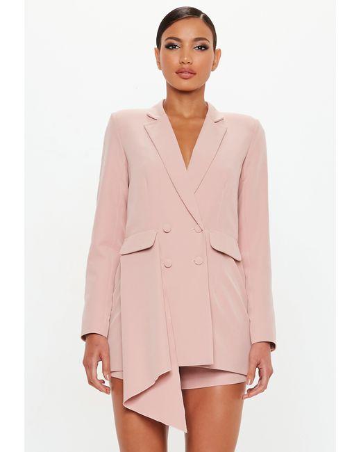 e5296e64ca Missguided - Pink Peace + Love Rose Tuxedo Blazer Playsuit - Lyst ...