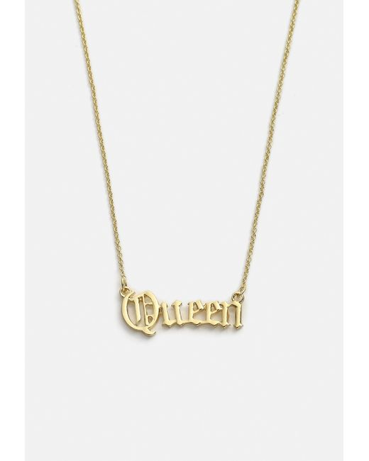 Missguided - Metallic Gold Look Queen Ditsy Necklace - Lyst