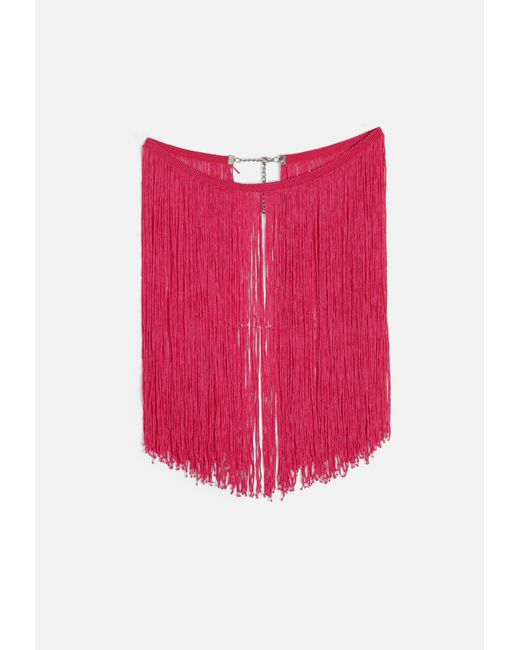 Missguided - Pink Tassel Collar Necklace - Lyst