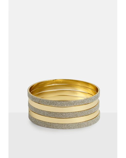 Missguided - Metallic Gold Multi Bangle Pack - Lyst