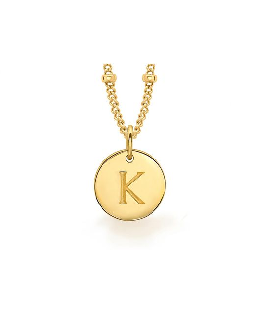 Missoma | Metallic Gold 'k' Initial Necklace | Lyst
