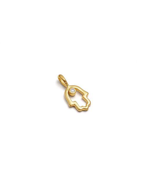 Missoma - Metallic Gold Open Hamza Hand Charm - Lyst