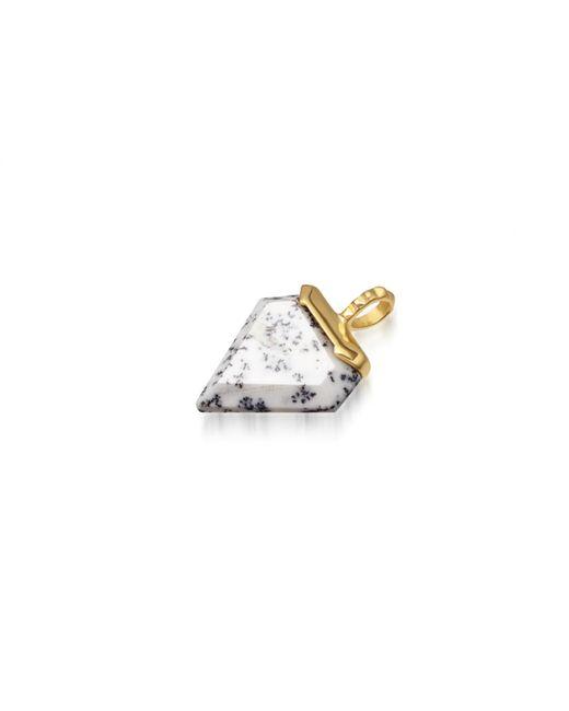 Missoma - Metallic Dendritic Chalcedony Mini Shield Pendant - Lyst