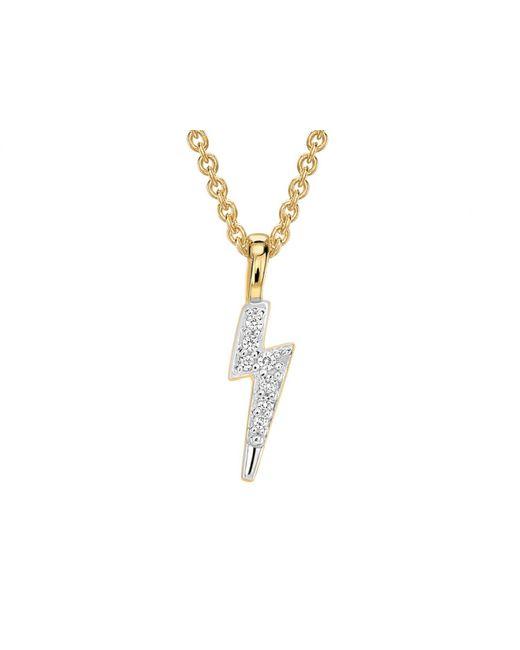 Missoma - Metallic Gold Pave Lightning Charm Necklace - Lyst